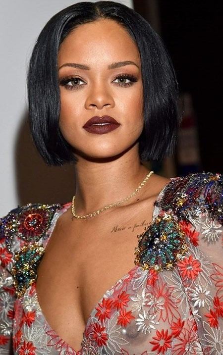 Rihanna-Short-Bob Best Rihanna Short Hairstyles