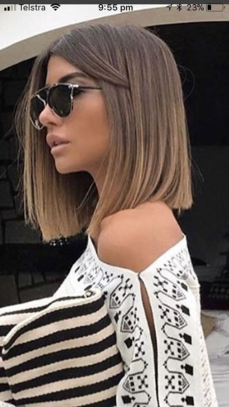 Sharp-and-Beautiful-Style Balayage Ombre Short Hair