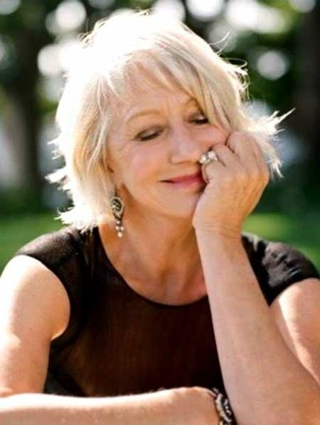 Short-Bob-Hairdo-with-Averted-Ends-and-Long-Bangs Best Short Haircuts for Older Women