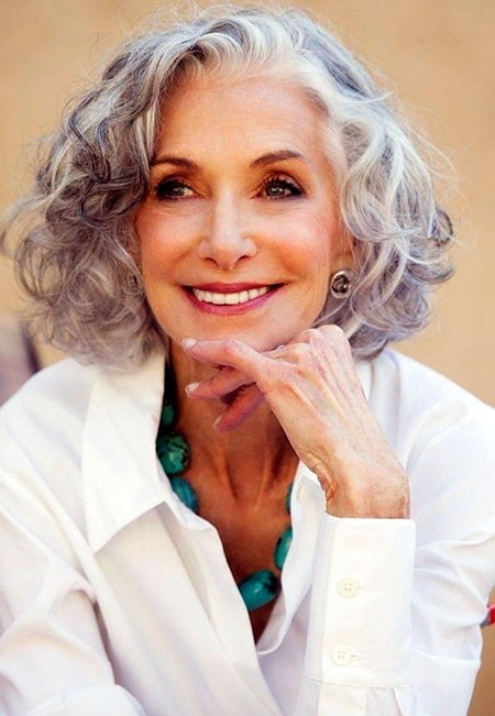 Short-Curls Short Bob Haircuts for Older Women