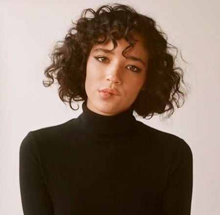 Short-Curly-with-Bangs Haircuts for Short Curly Hair