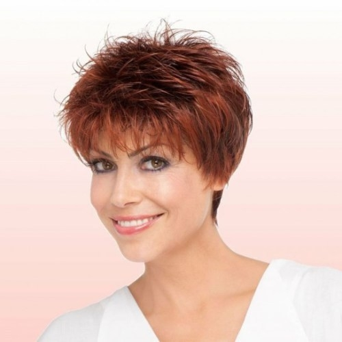 Short-Feathered-Hairstyle Gorgeous Short Hairstyles for Women over 50