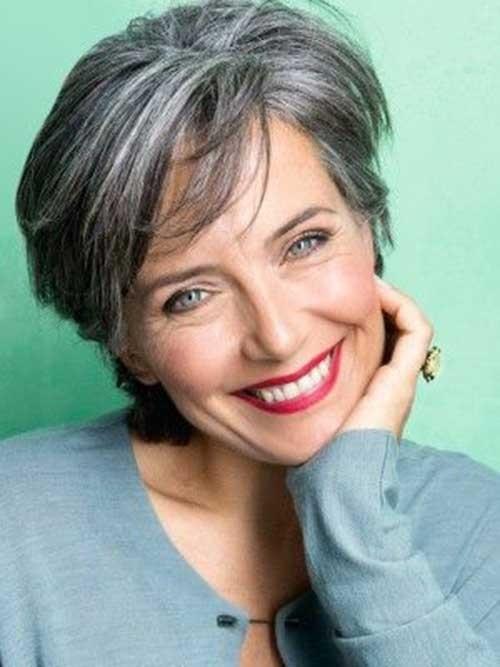 Short-Grey-Hair-1 Short Haircuts for Older Women 2018-2019