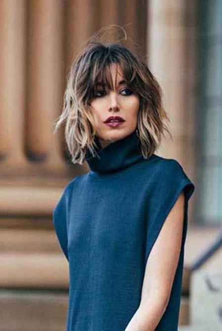 Short-Hair-Bangs Short Trendy Haircuts