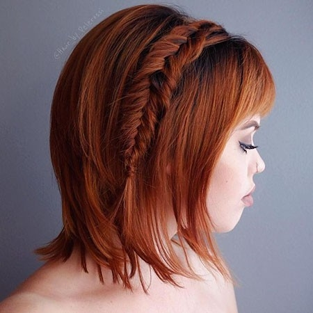 Short-Hair-Mixed-with-Long-Braids Easy Braids for Short Hair