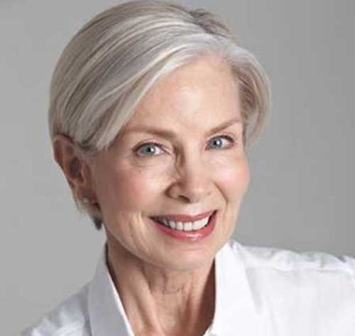 Short-Haircut-for-Older-Women-with-Straight-Hair Short Haircuts for Older Women 2018-2019