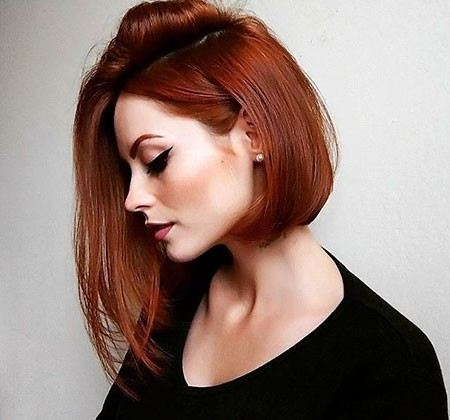 Short-Hairtyles-2018-with-Fringe Short Red Hair Color Ideas