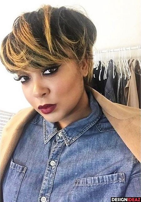 Short-Messy-Hair Best Hairstyles for Black Women 2018