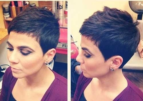 Short-Pixie-Cut-Dark-Hair Superb Short Pixie Haircuts for Women