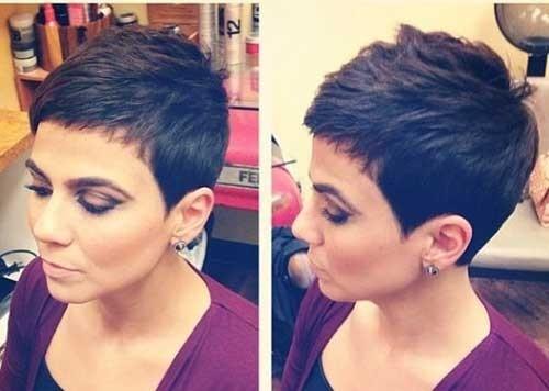 Short-Pixie-Cut-Dark-Hair Superb Short Pixie Haircuts for Women