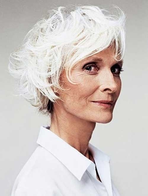 Short-White-Bob-for-Women-Over-70 Best Short Haircuts For Women Over 70