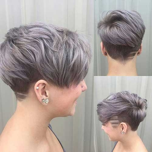 Silver-Grey-Pixie Long Pixie Haircuts You Should See