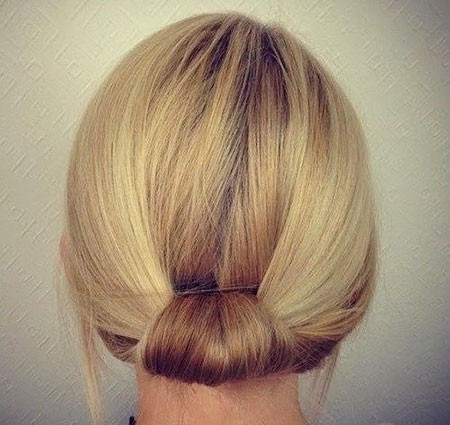 Simple-Daily-Hair Updo Hairstyles for Short Hair