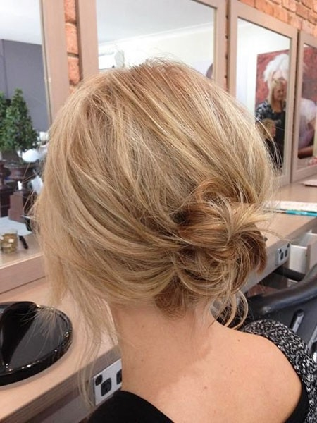 Simple-Hair-Look Updo Hairstyles for Short Hair