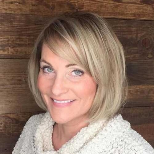 Simple-Short-Hairstyle Short Haircuts for Older Women 2018-2019