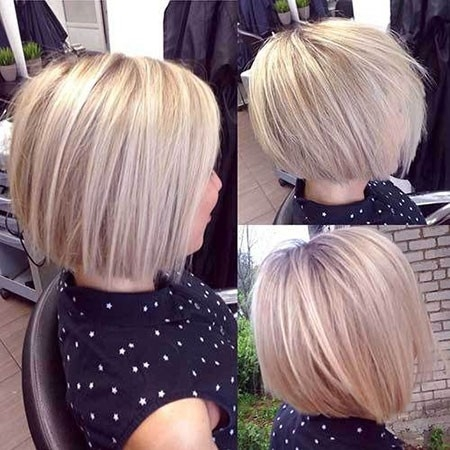 Sleek-Bob-Haircut Haircuts for Short Straight Hair