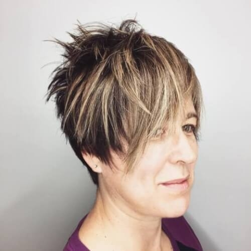 Square-Layered-Pixie Gorgeous Short Hairstyles for Women over 50