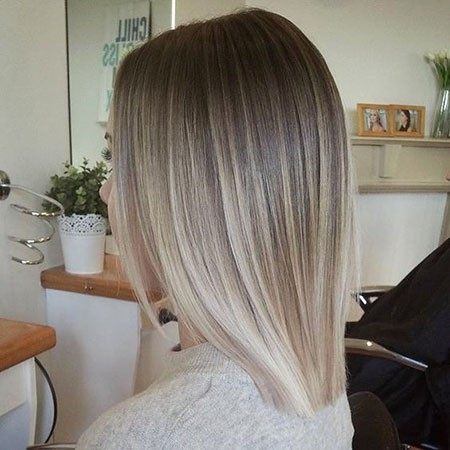 Straight-Ombre-Hair Ombre Hairstyles for Short Hair