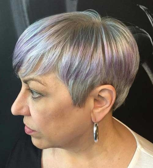 Straight-Pixie Best Short Haircuts for Older Women
