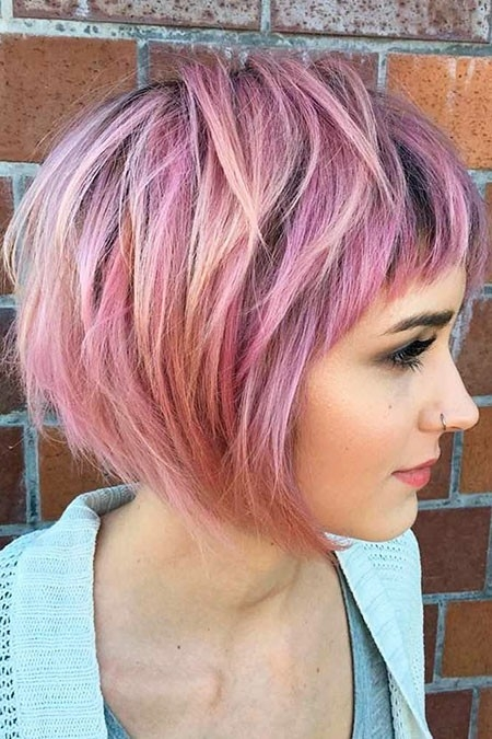 Trendy-Pinky-Haircut New Short Layered Hairstyles 2018