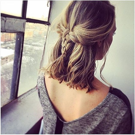Updo-Hair Easy Braids for Short Hair