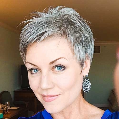 Very-Short-Gray-Hair Best Short Haircuts for Older Women