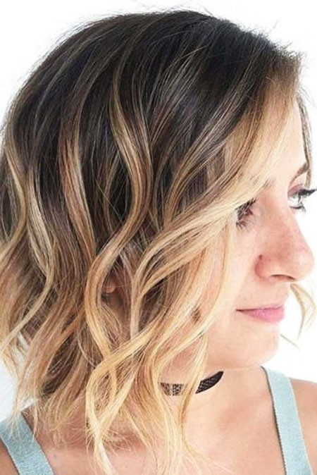 Wavy-Ombre-Hair New Cute Hairstyles for Short Hair