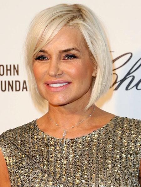 Yolanda-Hadid-Thin-Hair Short Bob Haircuts for Older Women