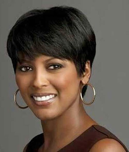 Short Haircuts for Black Women with Round Faces