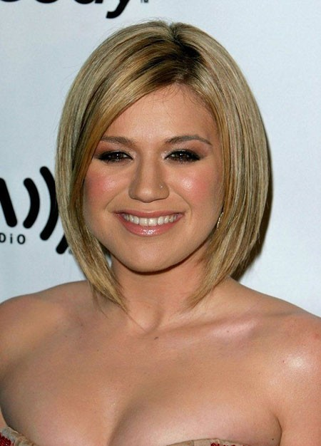 Angled-Bob-1 Short Hairstyles for Chubby Faces