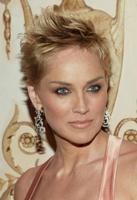 Blonde-Hair-1 New Sharon Stone Short Hairstyles