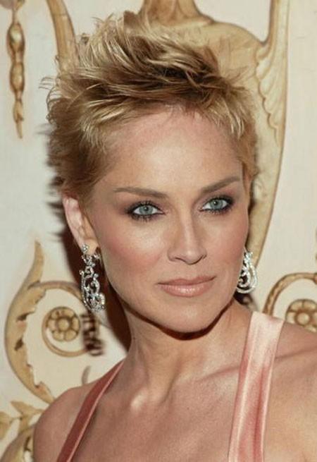 Blonde-Hair-1 New Sharon Stone Short Hairstyles