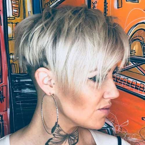 Blonde-Longer-Pixie Beautiful Layered Short Haircuts for Ladies