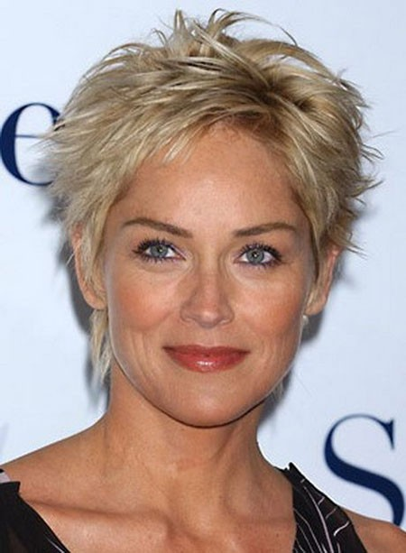 Blonde-Pixie-Cut-1 New Sharon Stone Short Hairstyles
