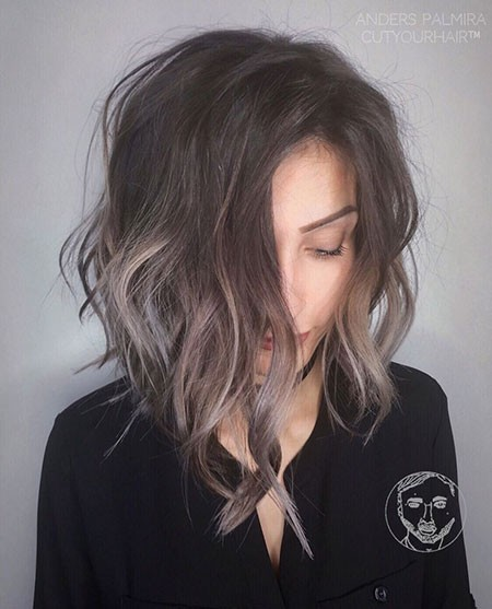 Brown-Balayage-Shag Best Short Hair Color Ideas