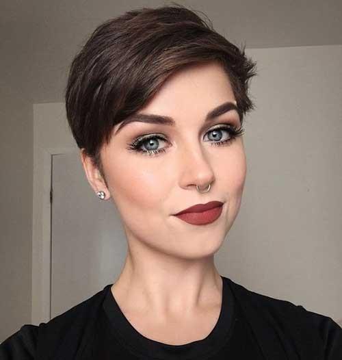 Brown-Hair-Pixie-Cut Best Pixie Haircuts for 2018