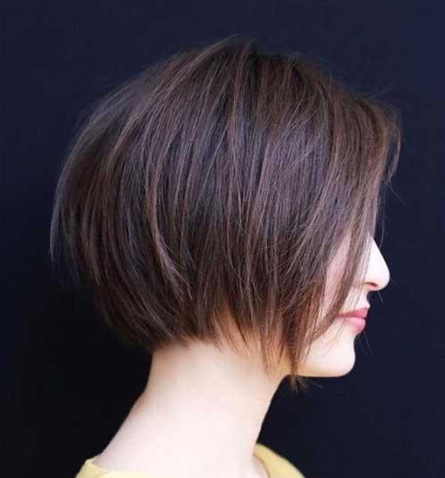Chocolate-Brown-Bob-Haircut-2018 Latest Bob Haircuts for 2018