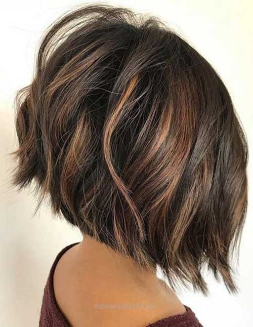 Chocolate-Brown-with-Highlights-1 Latest Bob Haircuts and Styles for You