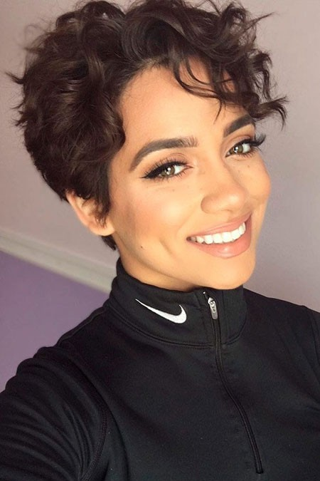 Curly-Pixie-Cut Hairstyles for Short Curly Hair