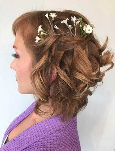 Curly-Wedding-Hairtyles-for-Short-Hair Bridal Hairstyles for Short Hair