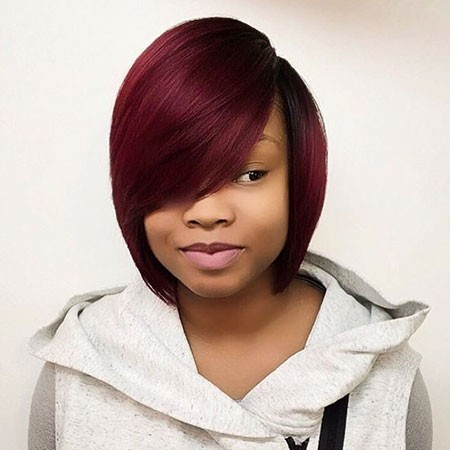 Cute-Bangs Best Short Hairstyles for Black Women
