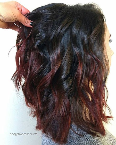 Dark-Hair-Color Best Short Hair Color Ideas