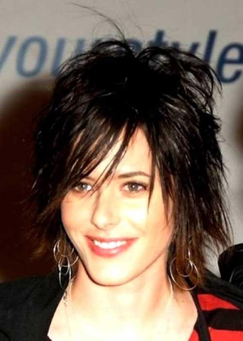 Dark-Short-Haircut-for-Shaggy-Hair Short Shaggy Haircuts