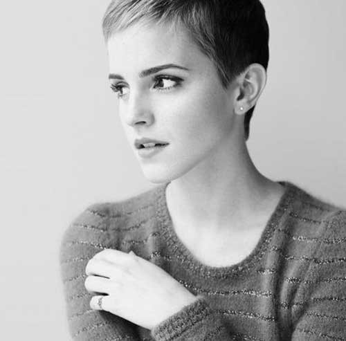 Emma-Watson-Short-Straight-Pixie-Hairstyle Best Short Haircuts for Straight Fine Hair