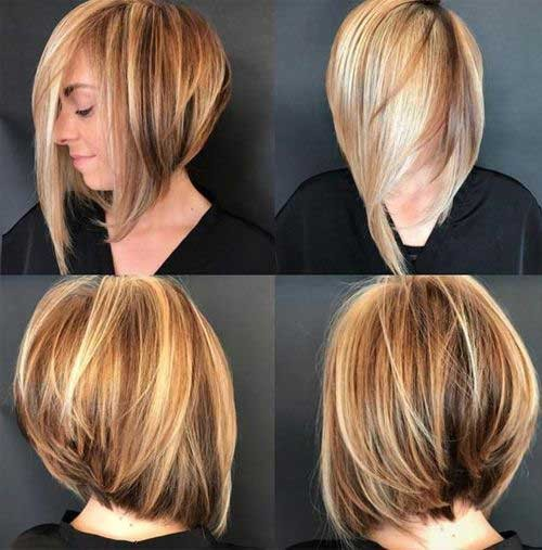 Graduated-Bob-with-Fringe Best Short Haircuts You will Want to Try