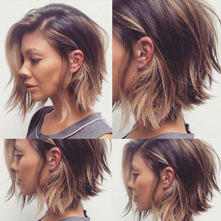 Growing-out-Bob-Haircut Short Hairstyles for Wavy Hair