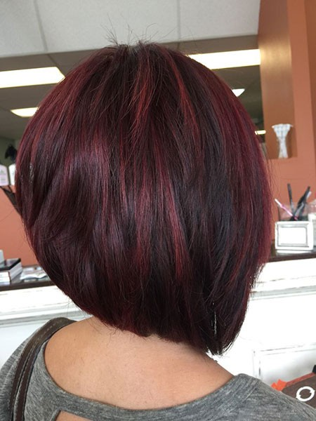 Highlight-on-Black-Hair-Short Best Short Hair Color Ideas