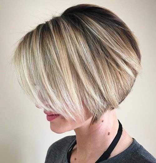 Layered-Blonde-Pixie-Bob Latest Bob Haircuts for 2018