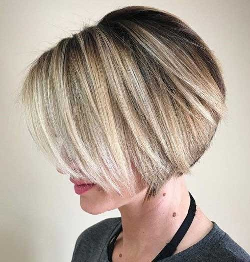 Layered-Blonde-Pixie-Bob Latest Bob Haircuts for 2018