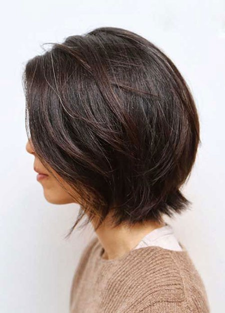 Layered-Bob-Hair Popular Short Brunette Hairstyles
